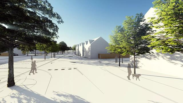 CGi of housing development in Winslow Buckinghamshire